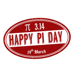 Happy pi day sign or stamp vector