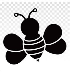 Honey bee or wasp flat icon for apps and websites vector