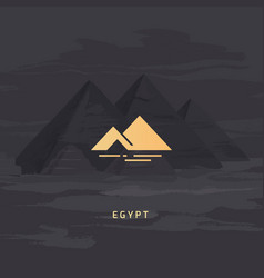 Icon most famous symbol egypt vector