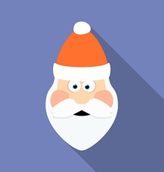 Icon of Santa Claus Flat style vector image