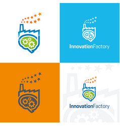 innovation factory icon and logo vector image