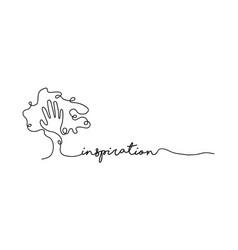 Inspiration single line web banner concept vector