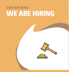 Join our team busienss company hammer we are vector