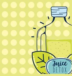 Juice detox cartoon vector