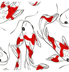 koi fish oriental pattern summer fish contrast vector image