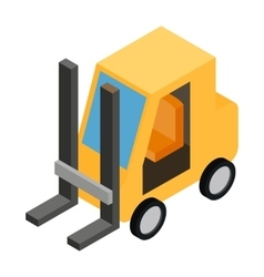 Loader isometric 3d icon vector