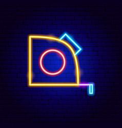 measure centimeter neon sign vector image