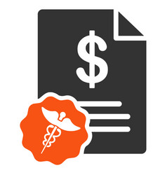 Medical prices flat icon vector