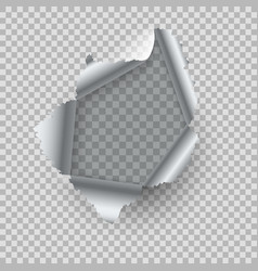 metal hole realistic burst metal with ragged vector image