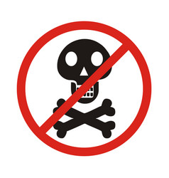 no skull and bones sign on white background vector image