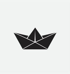 paper ship web icon vector image