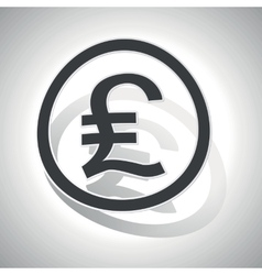 Pound sterling sign sticker curved vector