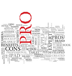 Pro word cloud concept vector