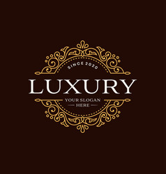 Royal luxury logo design template vector