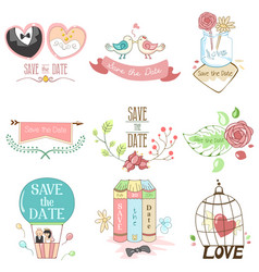 save date for wedding vector image