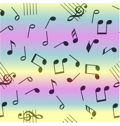 Seamless music notes pattern vector