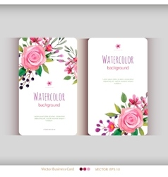set abstract watercolor cards vector image