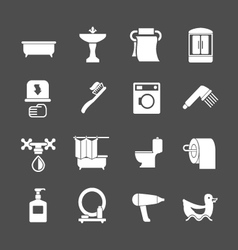 set icons bathroom and toilet vector image