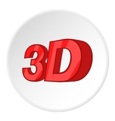 Sign 3d icon cartoon style vector image