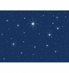 starry sky vector image