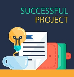 Successful Project Banner vector image