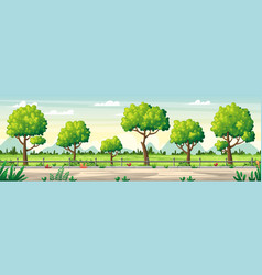 Summer landscape panorama vector