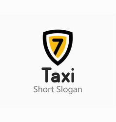 taxi emblem logo for taxi or travel vector image