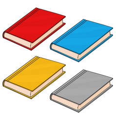 Textbooks colored doodle style vector