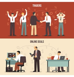 Trading Finance Banners vector