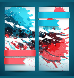 two abstract artistic banner set vector image