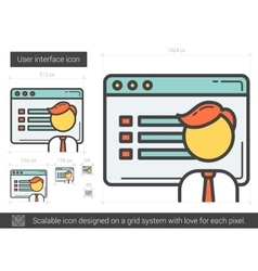 User interface line icon vector image
