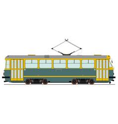 Vintage tram vector