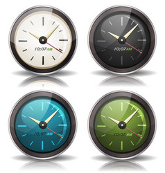 watches icons set vector image