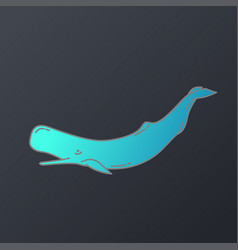 whales logo icon design vector image