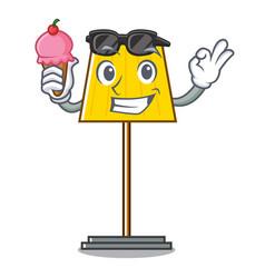 With ice cream floor lamp character cartoon vector