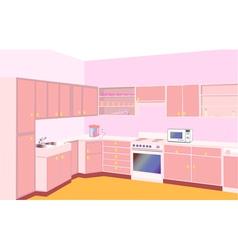 furniture on kitchen by set modern vector image