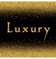 Gold Glitter Texture template 1 vector image