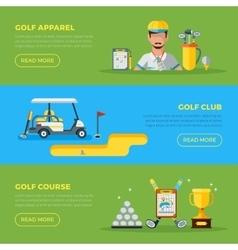 Horizontal Golf Banners vector image vector image