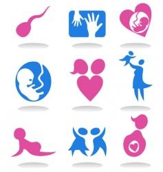 pregnancy icons vector image vector image