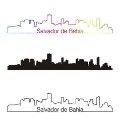 Salvador de Bahia skyline linear style with vector image vector image