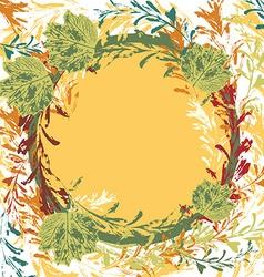 set of prints of leaves on an orange background vector image