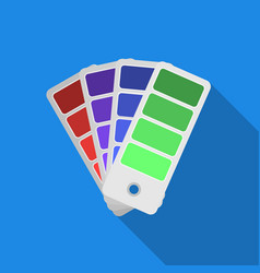 color swatches icon in flate style isolated on vector image