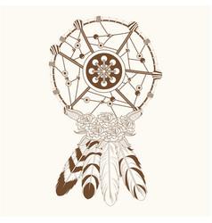 dream catcher free spirit magic vector image vector image