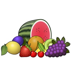 Fruits heap vector image vector image