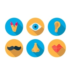 Human pieces icon in a flat design with long vector image vector image