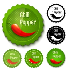 red chili banners vector image vector image