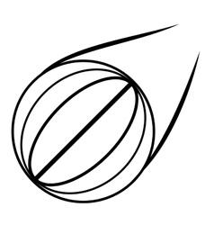 basketball ball sport school outline vector image