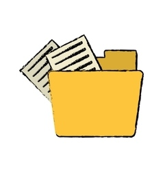 drawing folder file document information vector image vector image