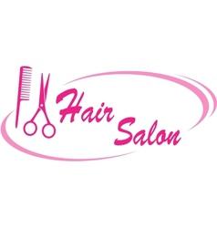 hair salon sign vector image