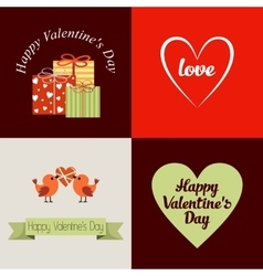 Happy Valentines Day Cards vector image vector image